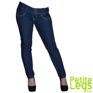 Zooey Skinny Jeans with Bow Detail | UK Size 6 | Petite Leg Inseam 26 inches | With Free Belt